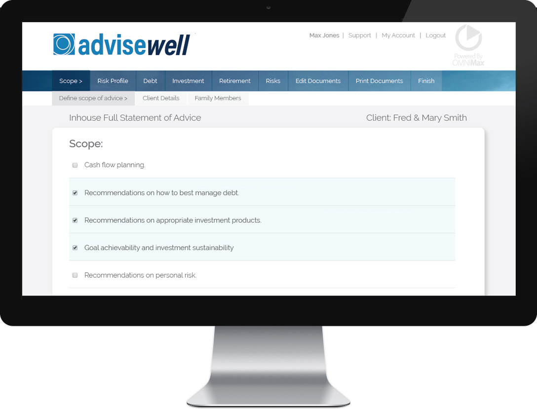 OMNIAdvice Advisor Workflow Tool